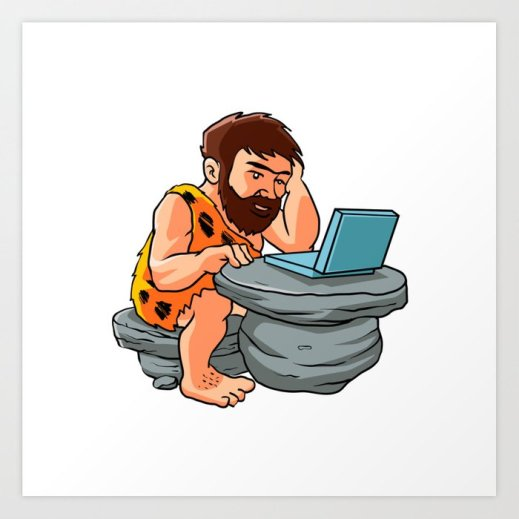 caveman-using-laptop-clip-art__k35799626